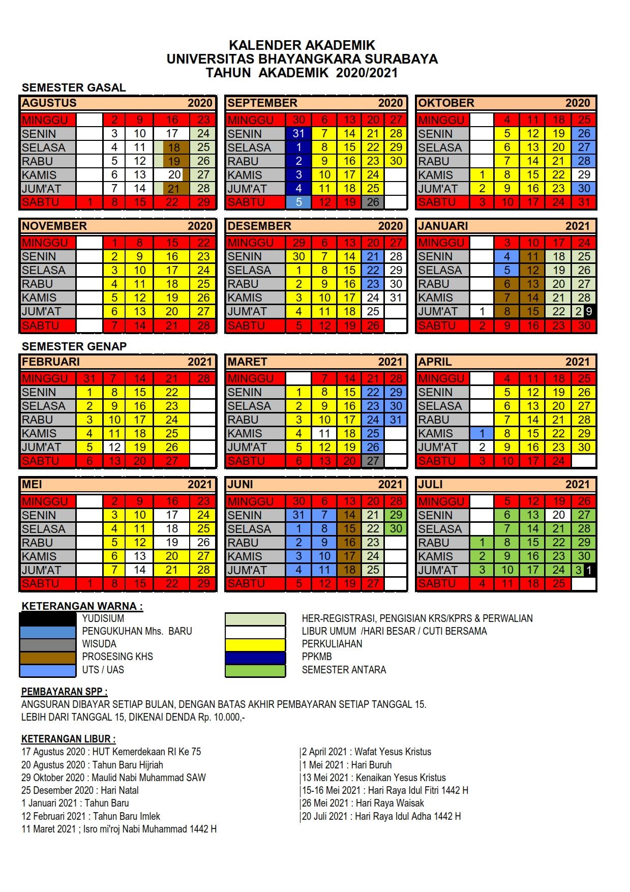 Kalender Akademik T.A. 2020-2021