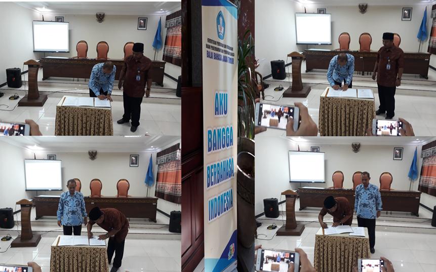Kerjasama Ubhara dengan Balai Bahasa Jawa Timur