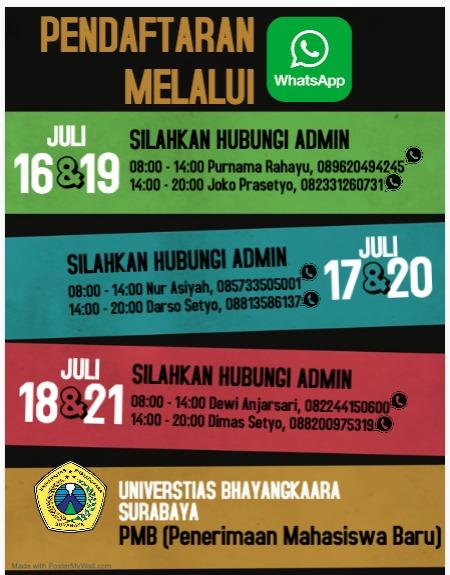 Pendaftaran Ubhara Surabaya tetap buka!