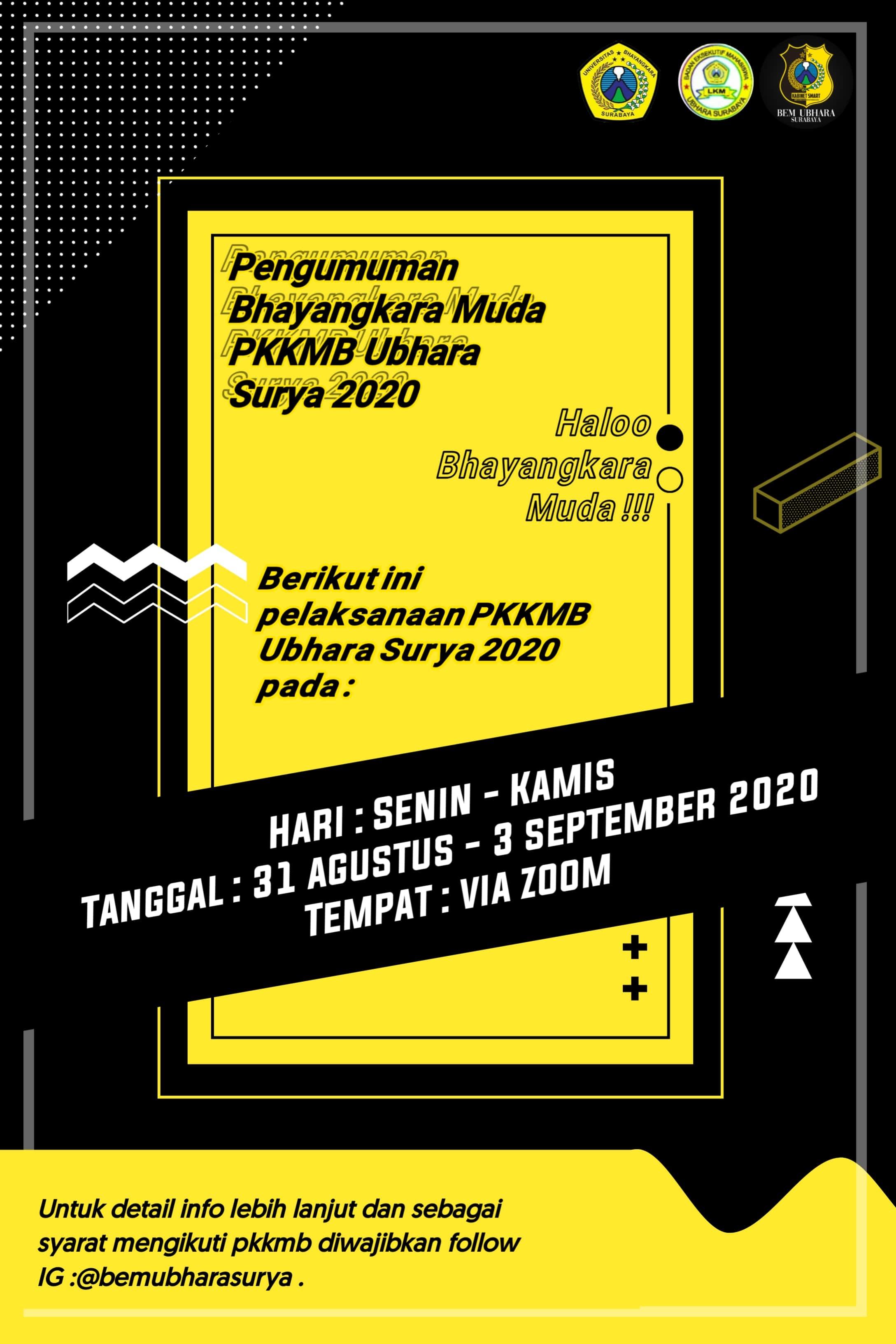 Pengumuman PKKMB 2020