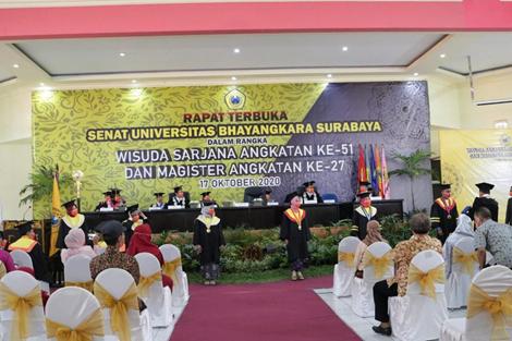 UBHARA Surabaya, 960 Mahasiswa Ikuti Wisuda Online. 11 Mahasiswa Terpilih Menjadi Mahasiswa Berprestasi