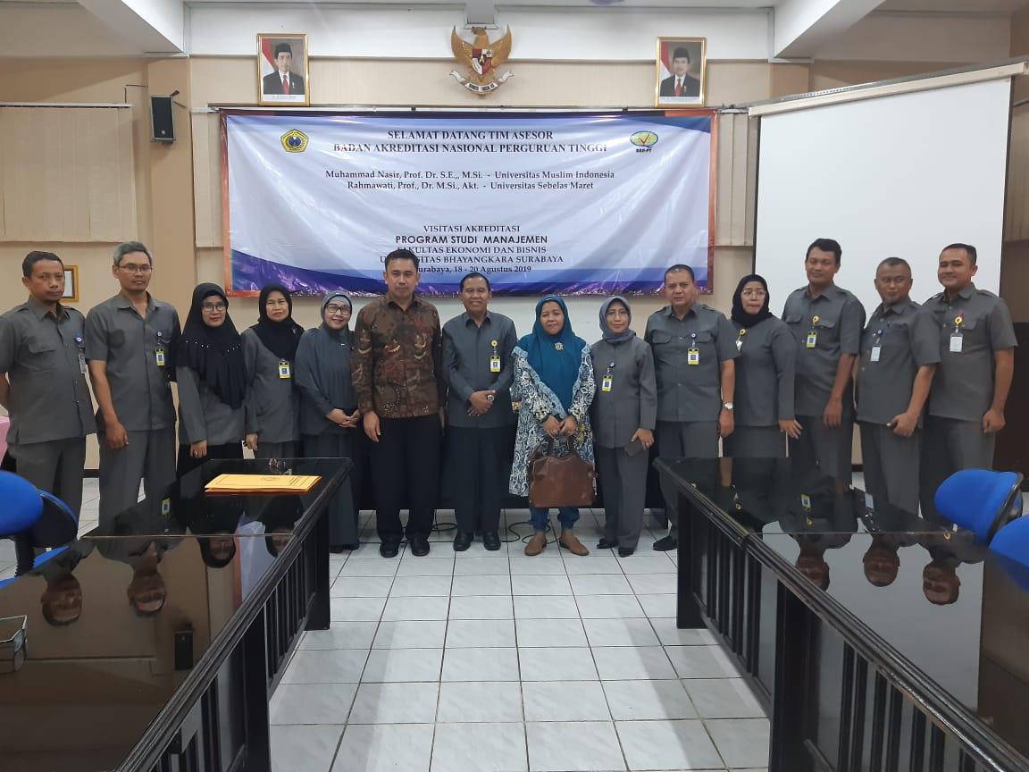 Visitasi Akreditasi Program Studi Manajemen FEB Ubhara Surabaya 2019