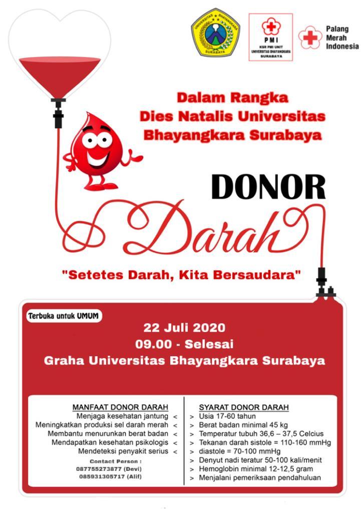 Yuk! Donor Darah di Ubhara Surabaya